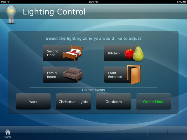 set the perfect mood using a whole home lighting control system