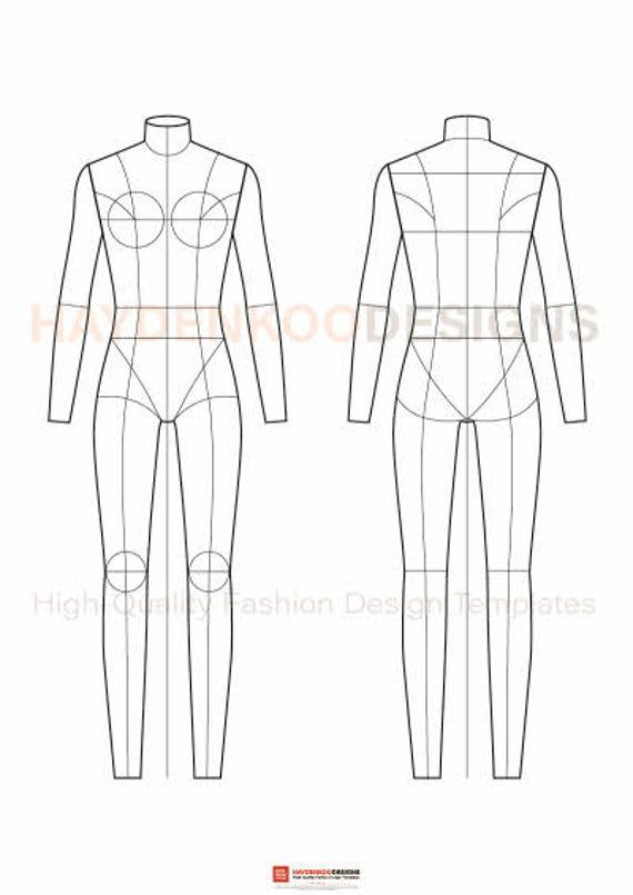Fashion Flats Body Templates Female – Special Edition