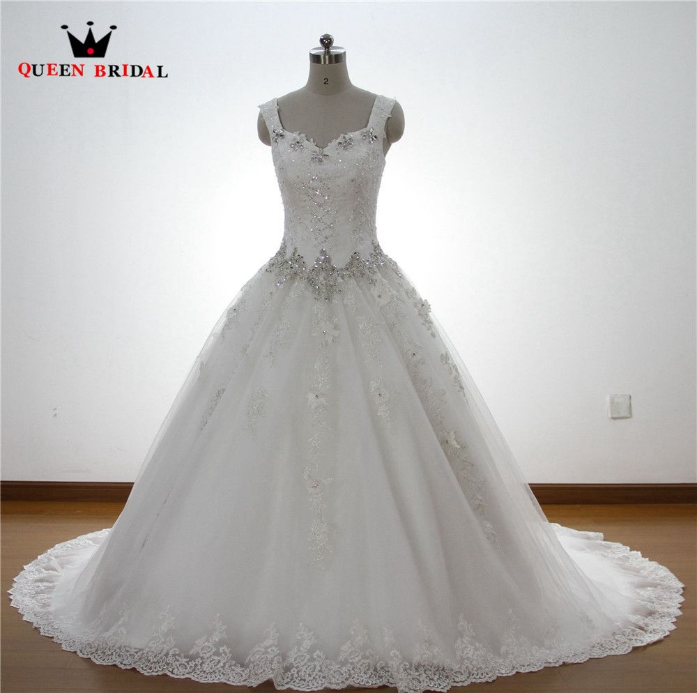 Wedding dress with straps  Click to Buy ucuc Black and white tulle ball gown wedding dresses