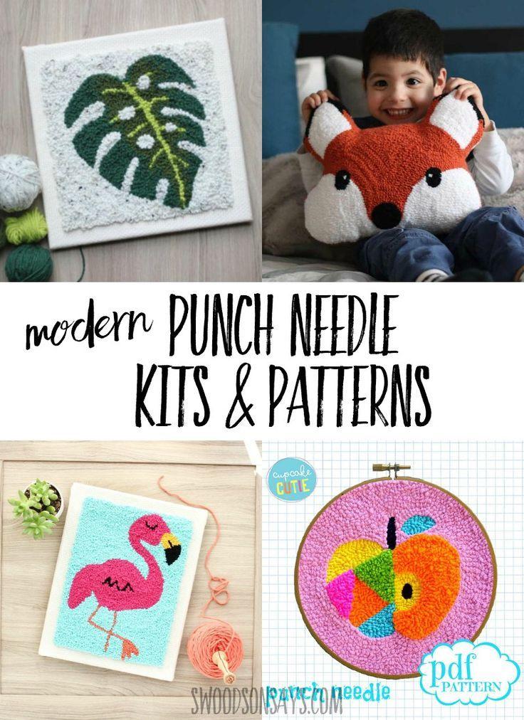 Modern Punch Needle Kits Patterns Kid Blogger Network Activities