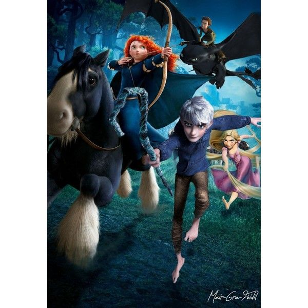 Rise of the Brave Tangled Dragons by Mair-Gra-Fhidil ❤ liked on Polyvore featuring disney