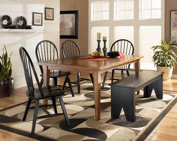Rustic Cottage Dining Group Traditional Wood Dining Set With