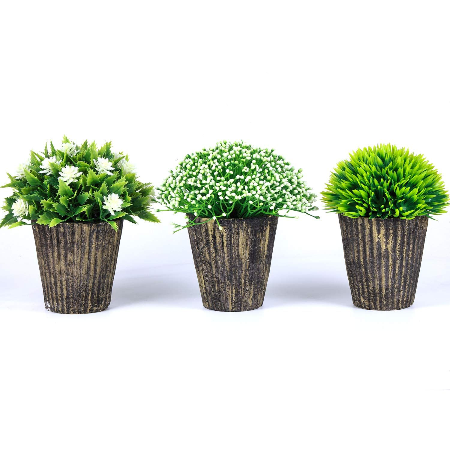 The Bloom Times Fake Plant For Bathroom Home Decor Small Artificial Faux Greenery For House Decorations Potted Pl Fake Plants Decor Bathroom Plants Fake Plants