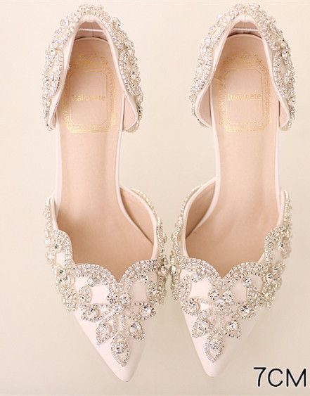 Welcome To Sirfen Store The Items Will Be Shipped Out In 7 Days Normally You Can Receive T Rhinestone Wedding Shoes Wedding Shoes Heels Wedding Shoes Bride