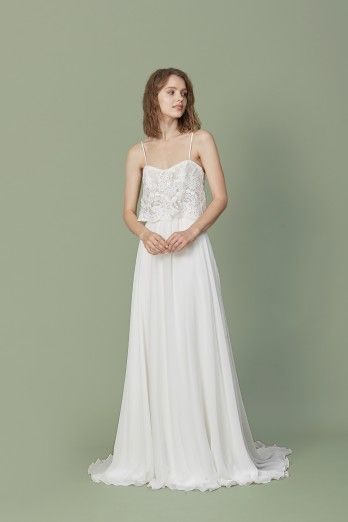 Winona By Christos Bridal Wedding Dresses Chiffon Wedding