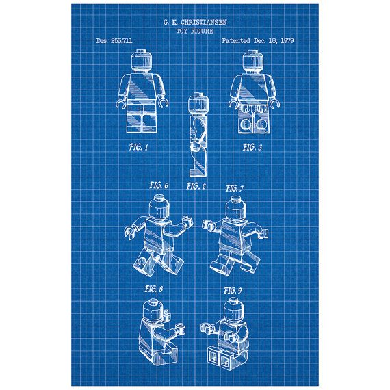 Lego person toys and collectibles patent poster blueprint style lego person toys and collectibles patent poster blueprint style screen print hand made malvernweather Images