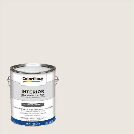 Colorplace Interior Paint Kitten White 30yy 78 035 Semi Gloss 1 Gallon Base Upc 0113118432909 Color Brown