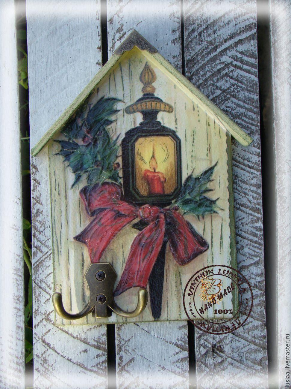 """Купить Ключница """"Новогодний фонарик"""" - ключница, ключница ручной работы…"""