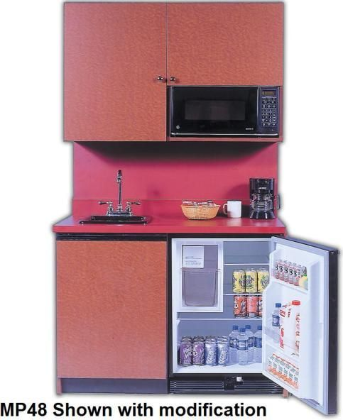 Beautiful Mini Kitchenettes | Acme Kitchenettes MP48 Compact Kitchen, Sink,  Refrigerator, Built In