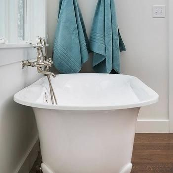 fiberglass freestanding tub with wall mount faucet. Clawfoot bathtub  Master Bathroom Bathtub Ideas Pinterest