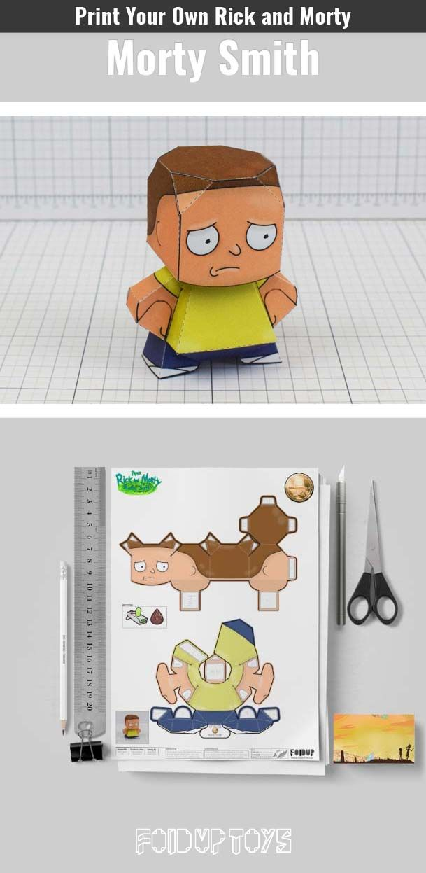 rick and morty paper toys free downloadable paper crafts of rick