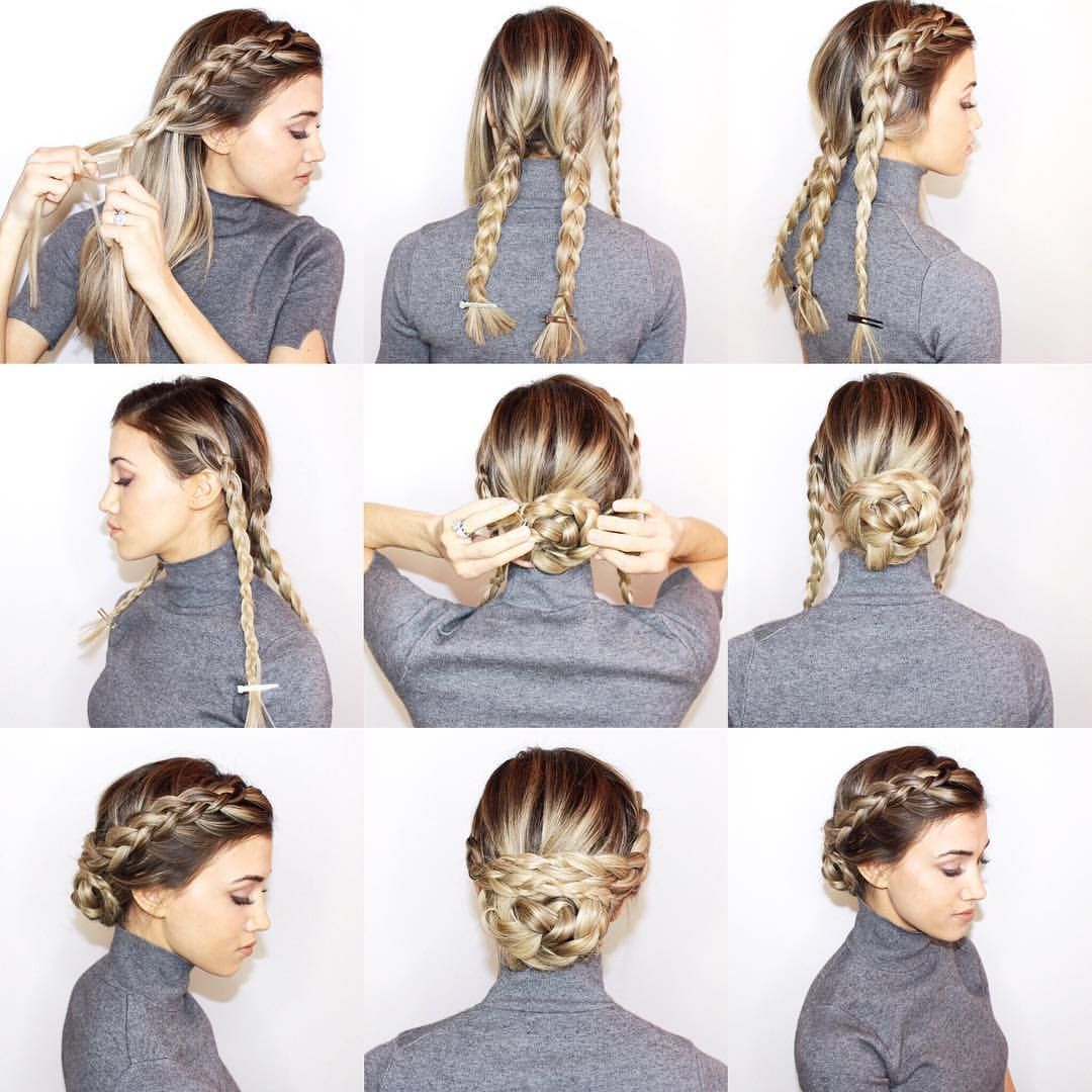 Blohaute On Instagram Olivia Wilde S Braided Upstyle Full Tutorial On Desireehartsock Com Blohautestyle Hair Styles Medium Hair Styles Long Hair Styles