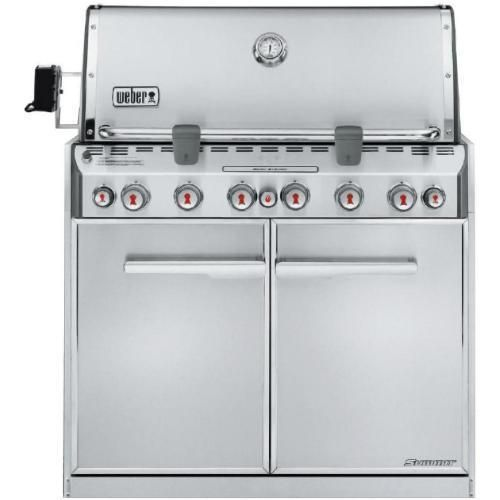 Weber Summit S 660 Built In Natural Gas Grill With Rotisserie Sear Burner 7460001 Bbqguys Built In Gas Grills Natural Gas Grill Propane Gas Grill