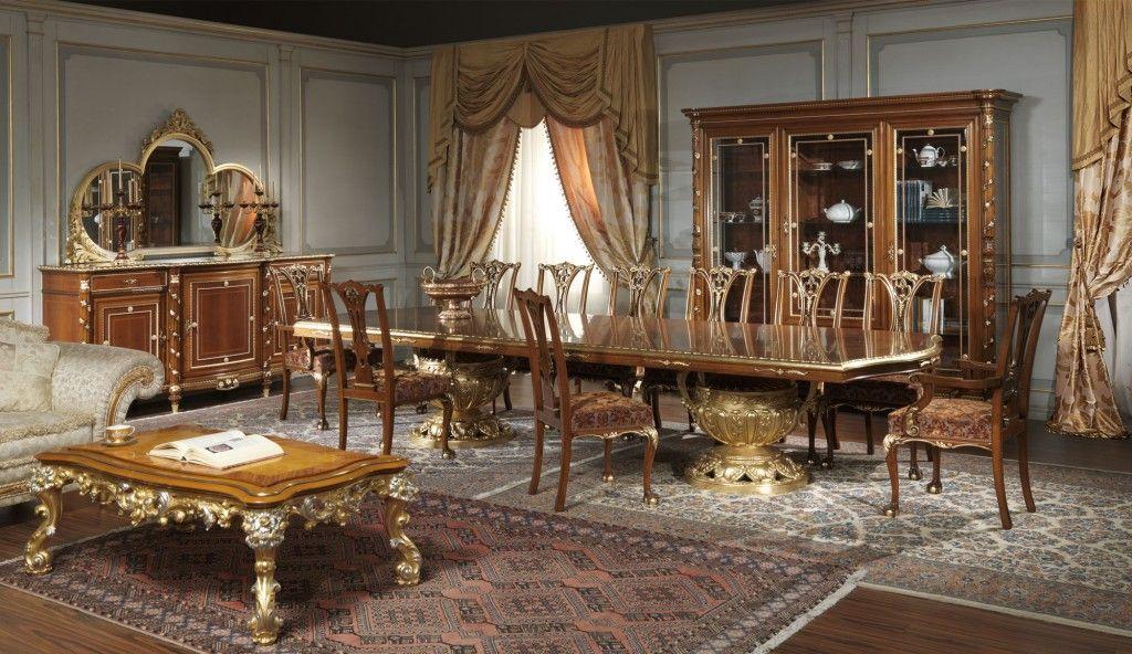 Sale da pranzo classiche Luigi XVI noce | Sala da pranzo ...