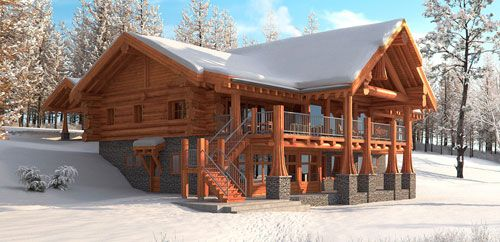 redwood floor plan loghome customhome floorplan country