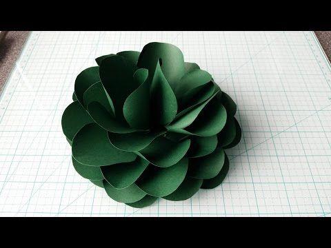 How To Make A Connected Petals Paper Flower Flores De Papel Diy