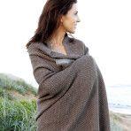 Wonga Raod Alpaca Throw Blanket – Taupe & Grey $220