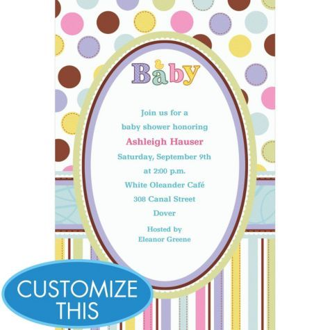 Tiny Bundle Custom Baby Shower Invitation Party City