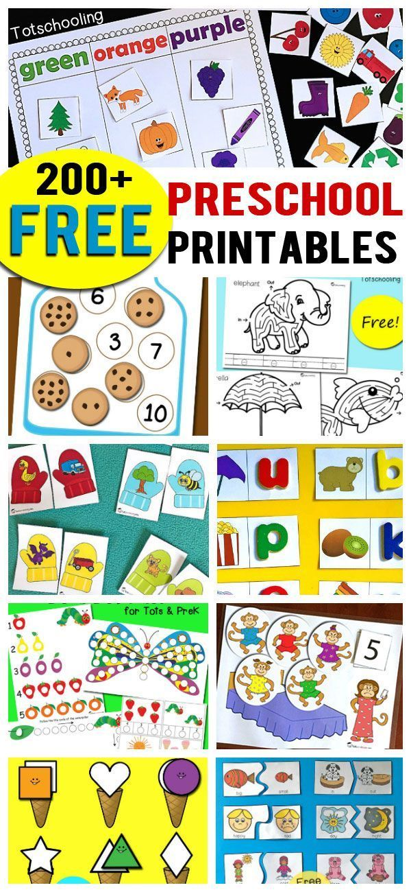 200+ Free Preschool Printables & Worksheets is part of Free preschool printables, Preschool worksheets free printables, Printable preschool worksheets, Preschool activities, Free preschool, Preschool worksheets - Over 200 FREE printables for preschoolers including alphabet activities, worksheets, letter matching, letter sounds, number recognition, counting, scissor skills, tracing, fine motor, science activities, seasonal, themed and more!