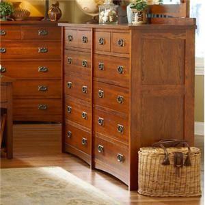 Prairie Mission Mission-Style 12 Drawer Dresser by ...