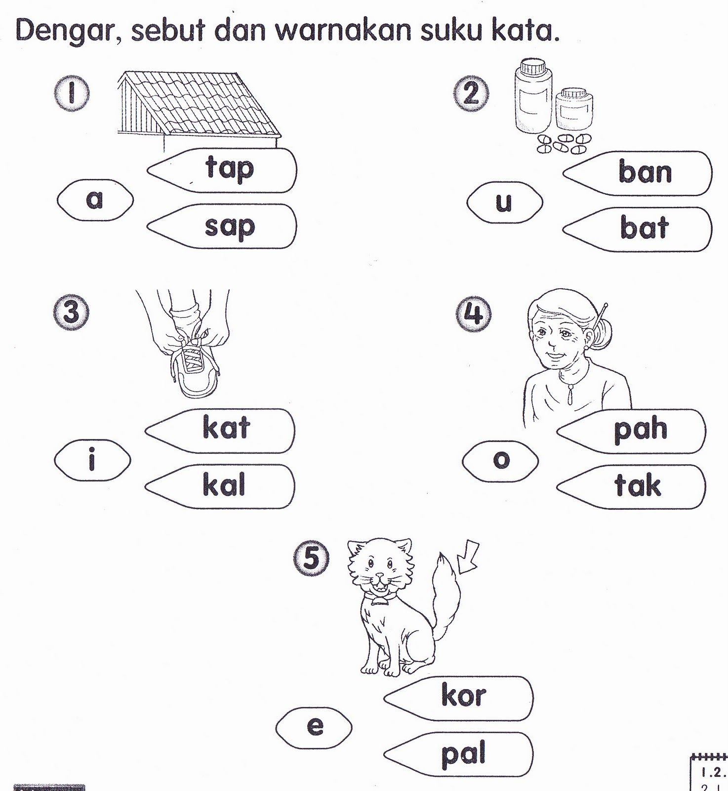 latihan bahasa melayu latihan kata nama am