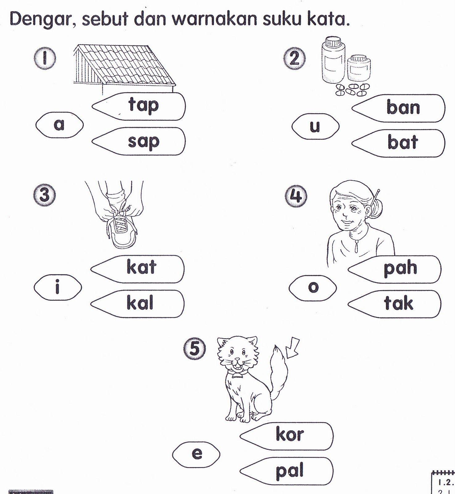 Worksheet Preschool Bahasa Melayu T