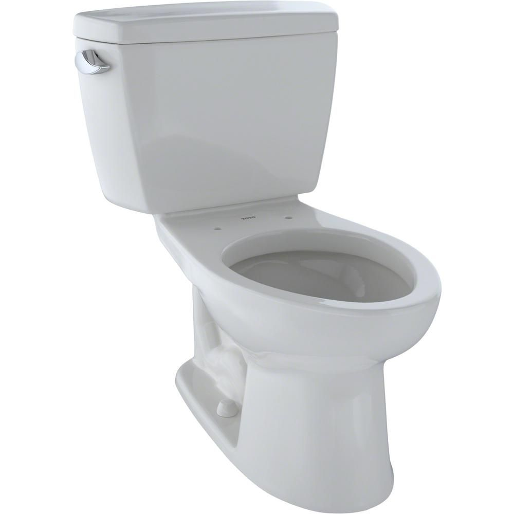 Toto Eco Drake 2 Piece 1 28 Gpf Single Flush Elongated Toilet In Cotton White Cst744e 01 Toto Toto Bathroom Toilet