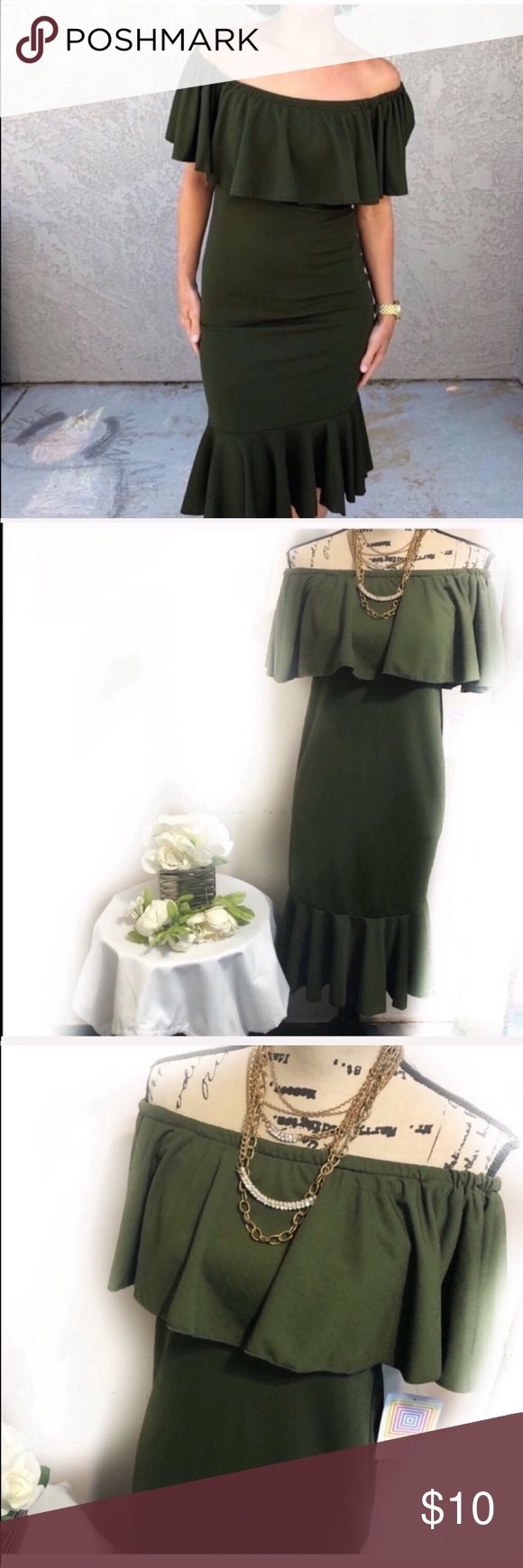 Best Lularoe Cici Dress Black Friday Deal Nwt Olive Green 400 x 300