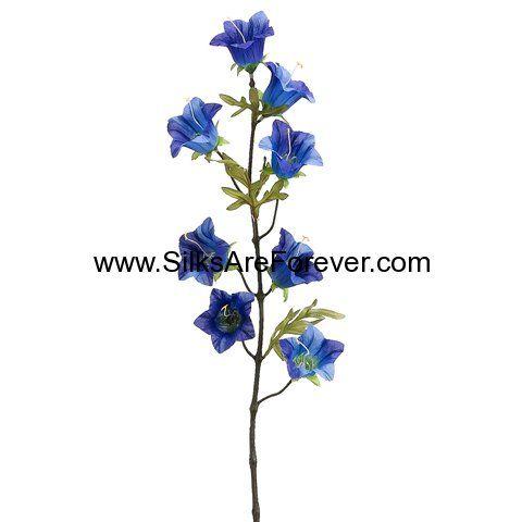 28 Silk Morning Glory Flower Spray Blue Blue Morning Glory Flower Spray Morning Glory