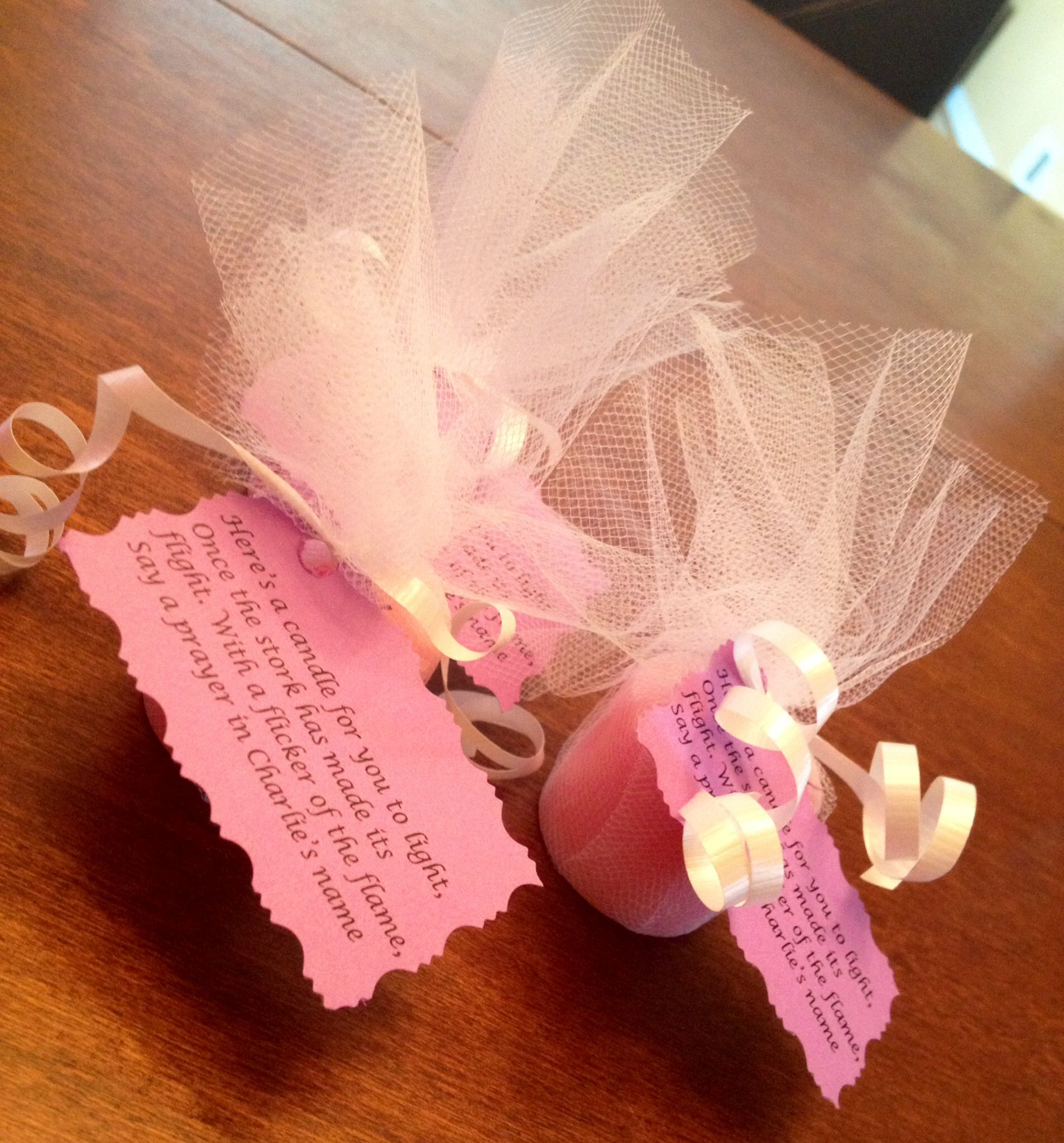 Pink Scented candle votive favors for Baby Shower | Marlen\'s Baby ...