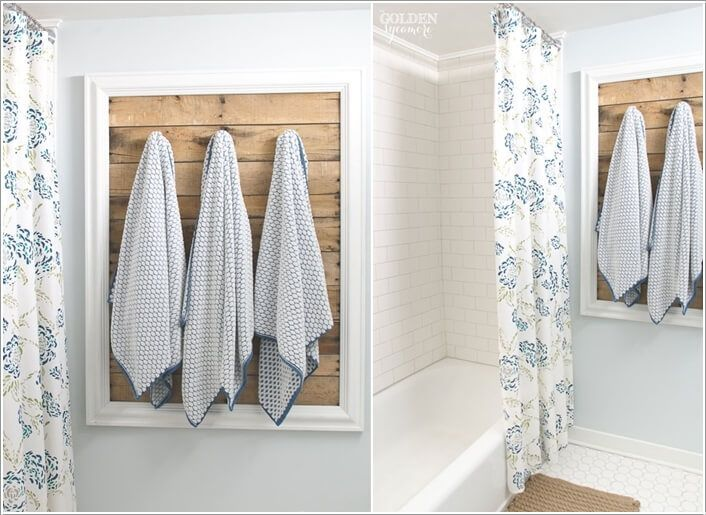 15 Cool Diy Towel Holder Ideas For Your Bathroom Bathroom Towel Hooks Towel Holder Diy Towel Holder Bathroom