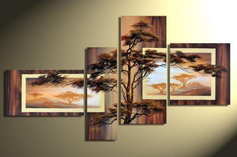 designbild baum in afrika handgemalt leinwand bild acryl wandbild bilder leinwandbilder günstig 20x20 foto