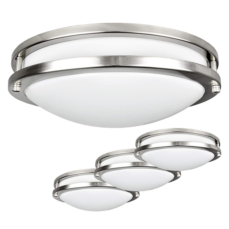 Luxrite Led Flush Mount Ceiling Light 12 Inch Dimmable 5000k