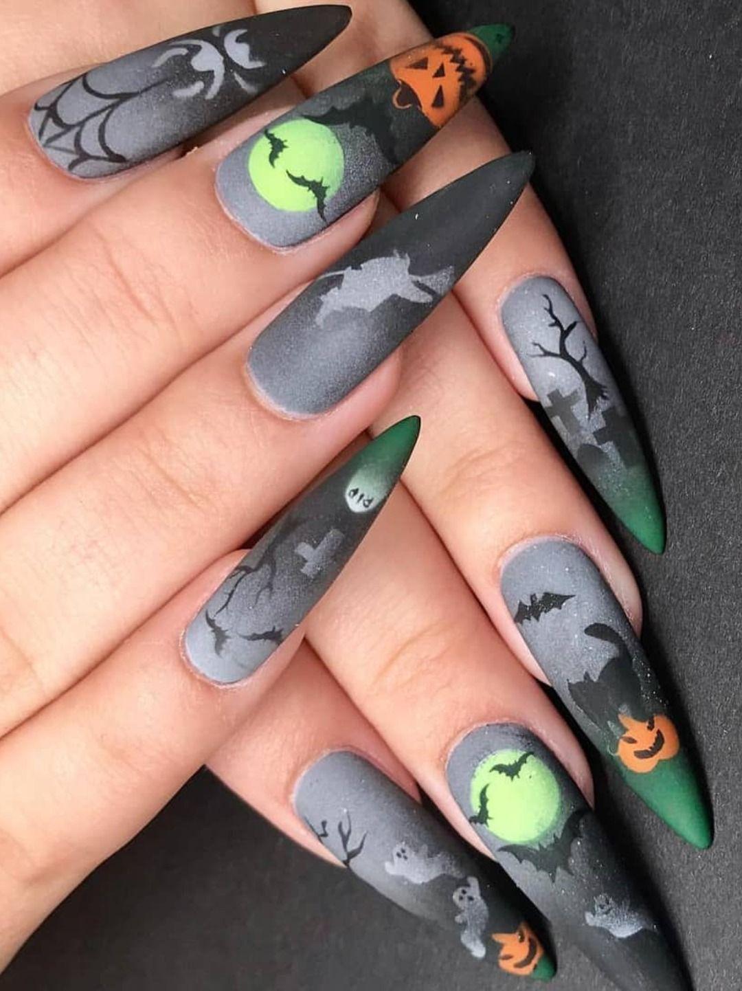 Pin By Samantha On Nail Designs Halloween Nail Designs Super Cute Nails Cotton Candy Nails