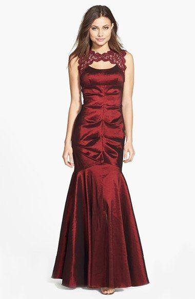 Prom dress burgundy xscape - Style dresses magazine