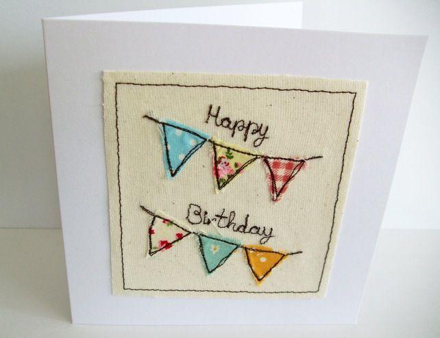 Birthday Bunting Birthday Card Sew Fun Pinterest Happy