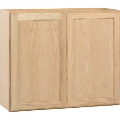 wall cabinet unfinished oak ohd the home depot kitchen cabinets bargain outlet  sc 1 st  Pinterest & wall cabinet unfinished oak ohd the home depot kitchen cabinets ...