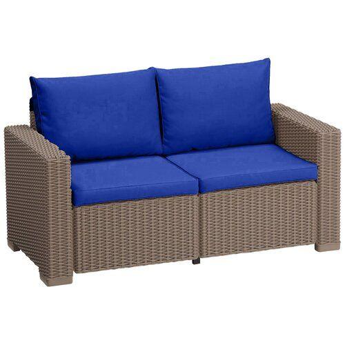 Keter Allibert California Garden Love Seat Cushion Sol 72 Outdoor Colour Blue Diy Gartenmobel Gartenmobel Sets Aussenmobel