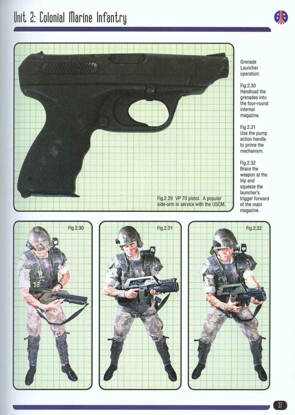 Aliens: The H&K 88 Mod 4 pistol looks similar to the their