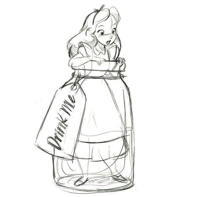 Alicia en un frasco en 2019   Dibujos, Dibujos de disney y ...