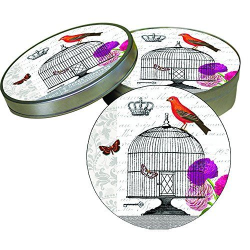 Paperproducts Design Passerines Vintage Birdcage Absorbent Pulpboard Coaster Set, Set of 12 Paperproducts Design http://www.amazon.com/dp/B00OOLUJPC/ref=cm_sw_r_pi_dp_VJo.ub1SXNM64