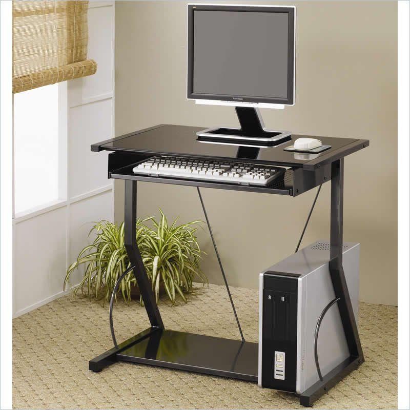 Coaster Desks Contemporary Computer Desk With Keyboard Tray In Black Small Computer Desk Computer Desks For Home Desks For Small Spaces