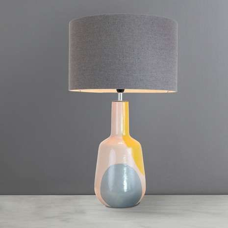 Elements Zadar Dipped Grey Table Lamp Dunelm Grey Table Lamps Table Lamp Lamp