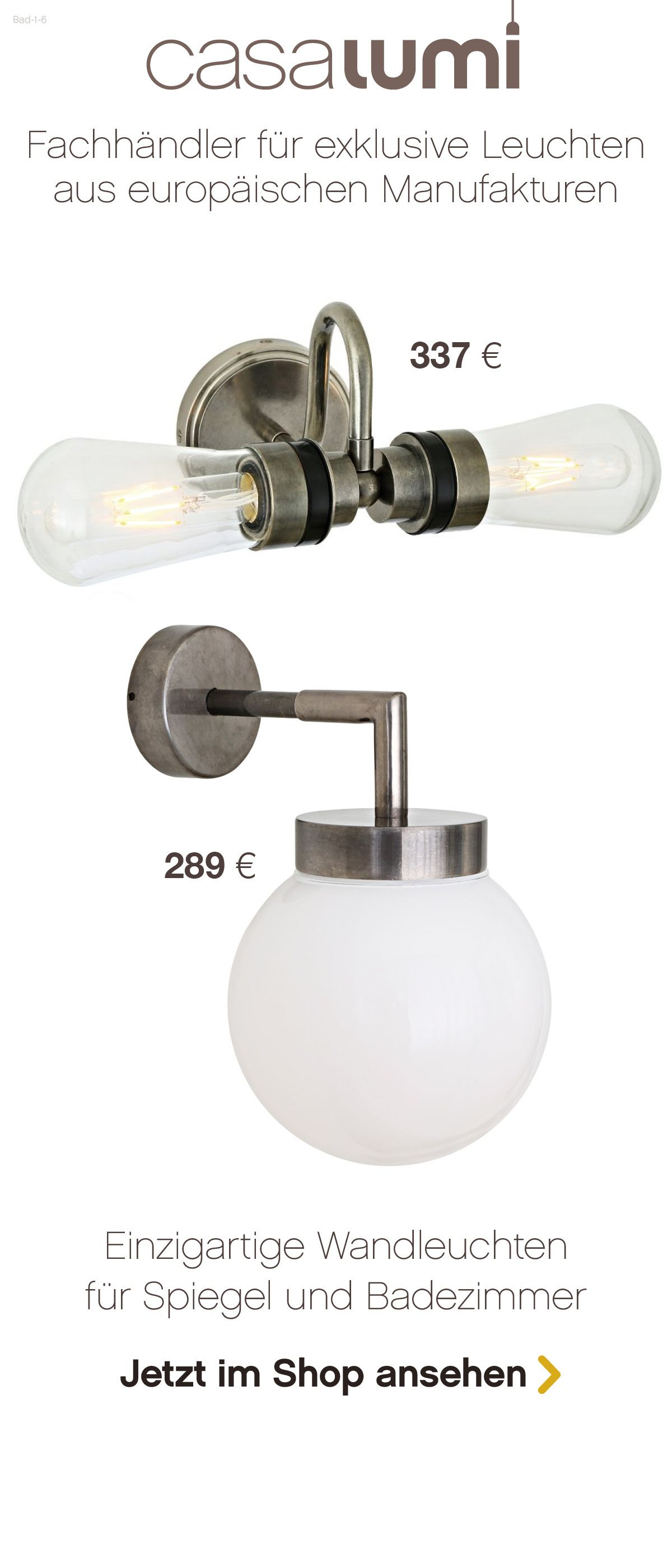 Bad 1 6 Exklusive Badezimmer Leuchten Lampe Badezimmer Leuchten Badezimmer