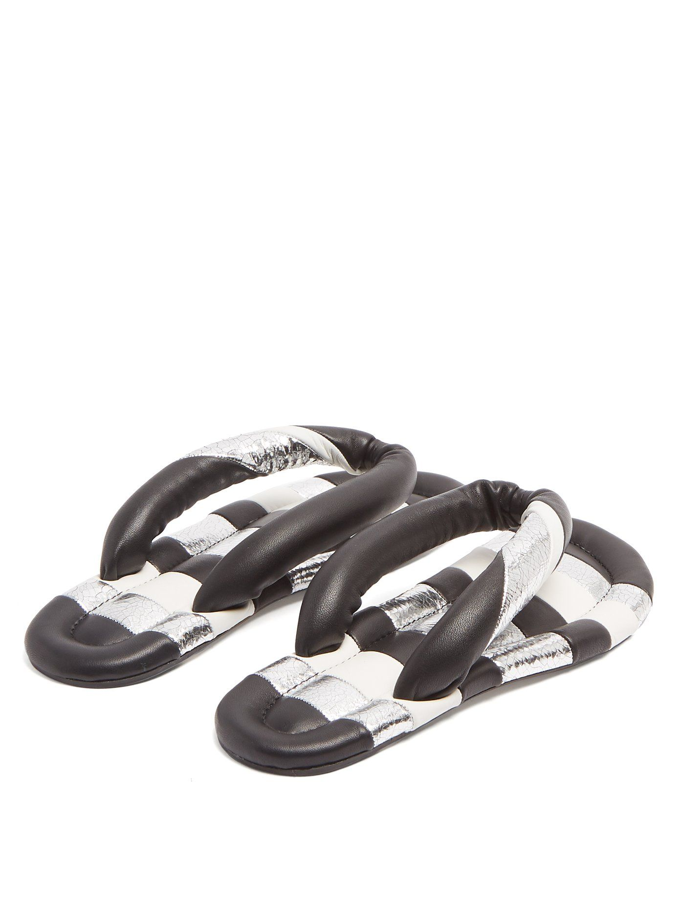 f228dcf17e1 Eckily striped leather sandals | Isabel Marant | MATCHESFASHION.COM Leather  Sandals, Shoes,