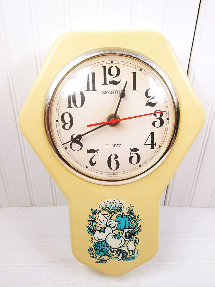 Vintage Spartus Plastic Wall Clock Kitchen Spice Of O Life