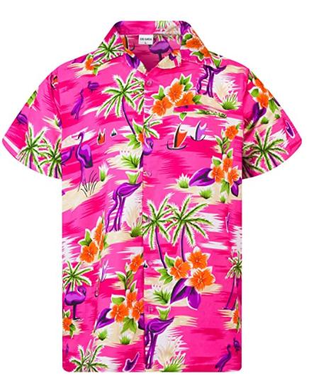 Hawaiian Shirt For Men Funky Casual Button Down Very Loud Shortsleeve Unisex Flamingos Mens Hawaiian Shirts Hawaiian Shirt Hawaiian Shirt Outfit