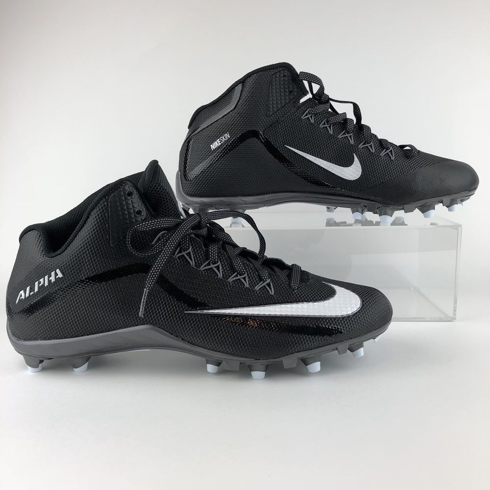 Nike Cleats size 15 Alpha Shark 2 3 4 Football Shoes Mens 719927-010 ... 2b424290f