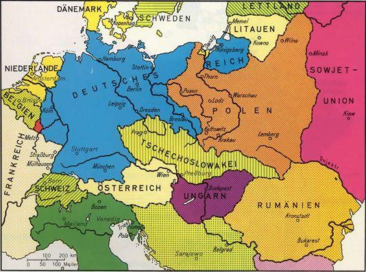 deutschland nach dem 1 weltkrieg karte Deutschland nach dem ersten Weltkrieg    erste Republik Weimarer