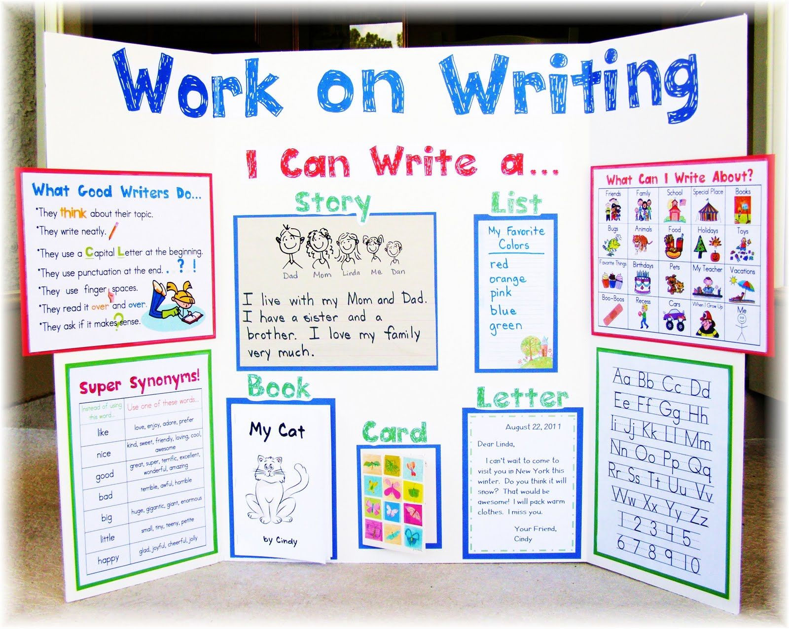 Good Ideas For Writing Center Area